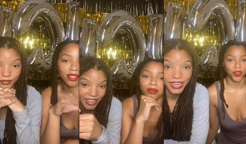 Chloe x Halle's Instagram Live Stream from June 11th 2020.