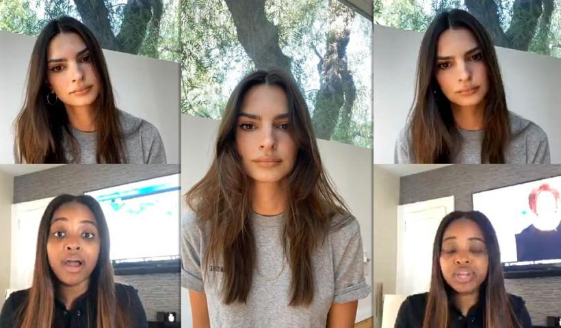 Emily Ratajkowski's Instagram Live Stream from June 4th 2020.