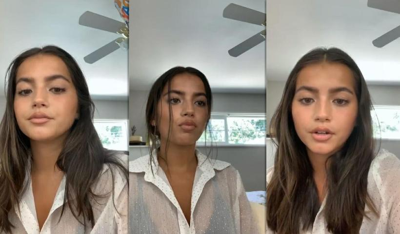 Isabela Merced (Moner)'s Instagram Live Stream from July 11th 2020.