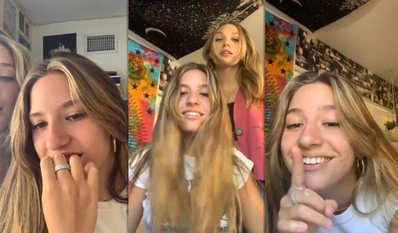 Mackenzie Ziegler's Instagram Live Stream with her Sister Maddie Ziegler from July 10th 2020.