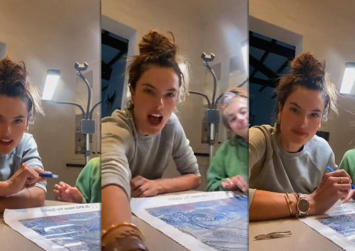 Alessandra Ambrosio's Instagram Live Stream from August 7th 2020.