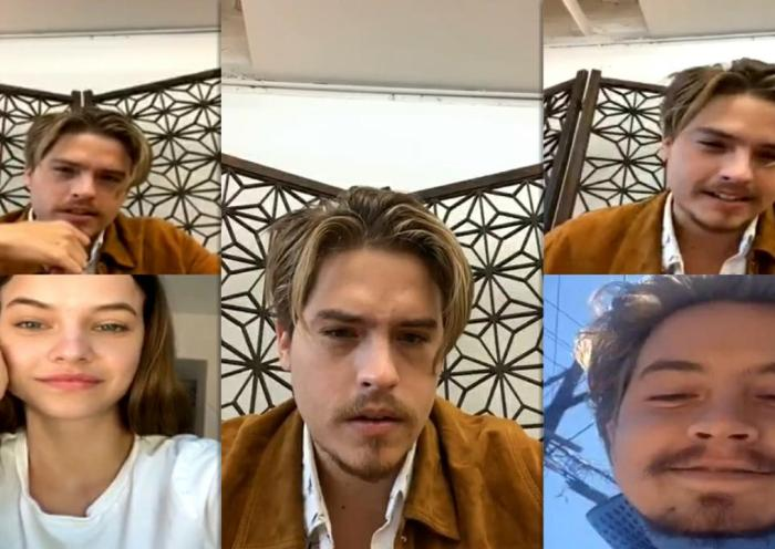 Dylan Sprouse's Instagram Live Stream with Barbara Palvin and His Twin Cole from August 12th 2020.
