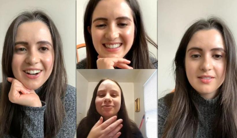 Laura Marano's Instagram Live Stream from August 21th 2020.