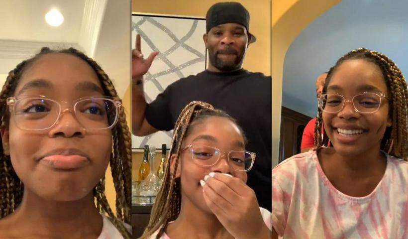 Marsai Martin's Instagram Live Stream from August 12th 2020.
