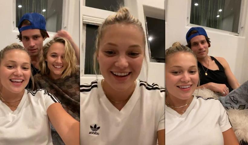 Olivia Holt's Instagram Live Stream from September 26th 2020.