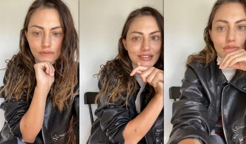 Phoebe Tonkin's Instagram Live Stream from September 25th 2020.
