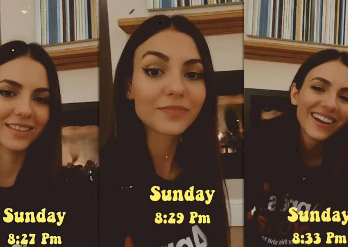 Victoria Justice's Instagram Live Stream from September 27th 2020.