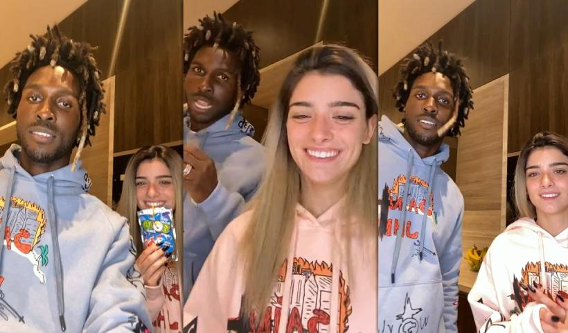 Dixie D'Amelio's Instagram Live Stream with SAINt JHN from November 16th 2020.