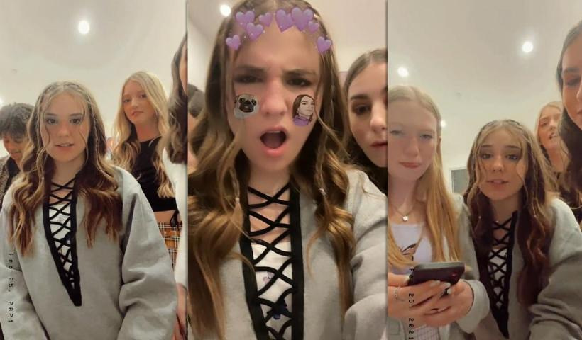 Piper Rockelle's Instagram Live Stream with her friends from February 25th 2021.
