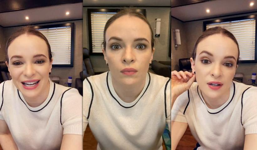 Danielle Panabaker's Instagram Live Stream from April 13th 2021.