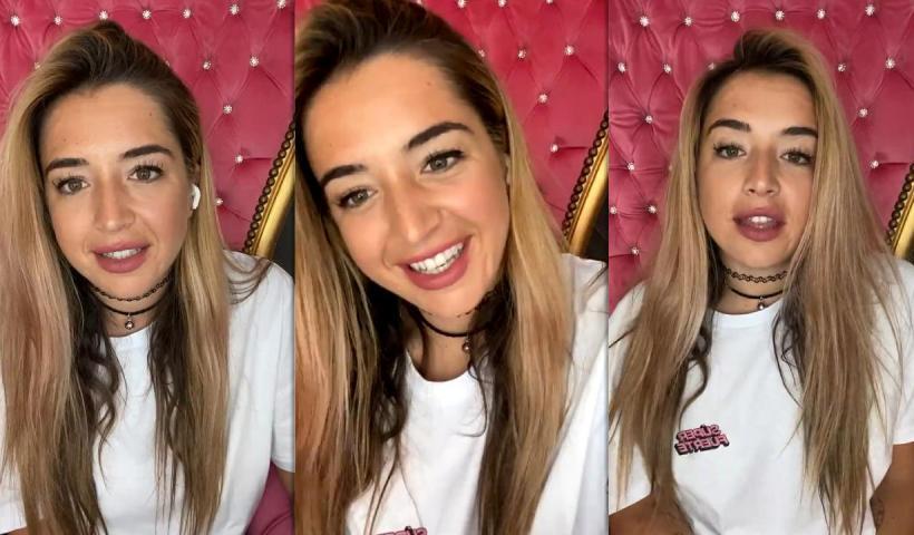 Lola Índigo's Instagram Live Stream from April 5th 2021.
