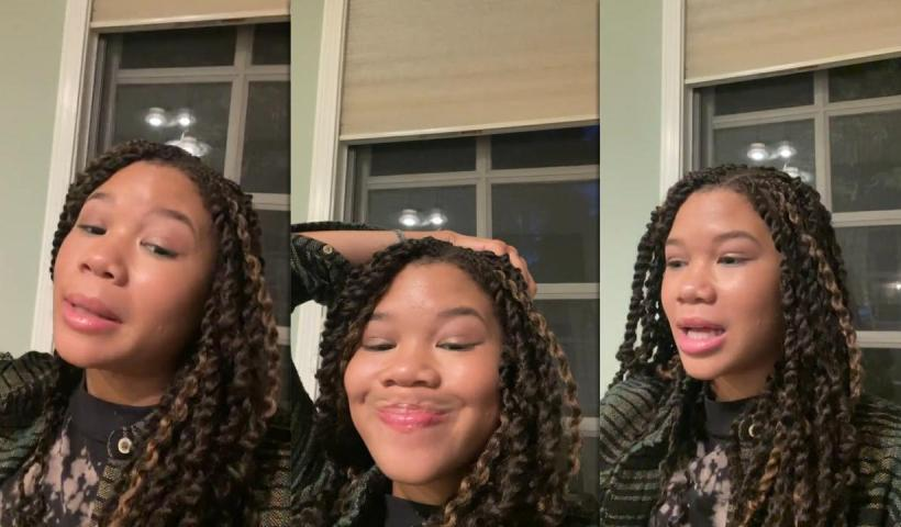 Storm Reid's Instagram Live Stream from April 9th 2021.