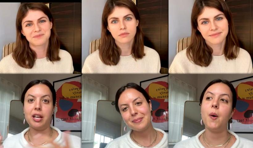 Alexandra Daddario's Instagram Live Stream from May 11th 2021.