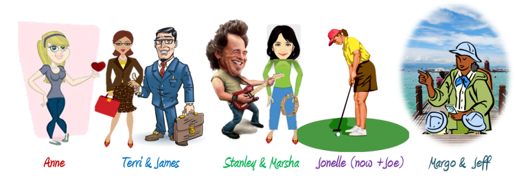 caricature avatars for blog to show response to survey questions