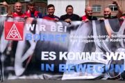 Metaller aus Solingen unterstützen die Tarifbewegung an den Borbet-Standorten