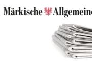 Märkische Allgemeine: Riva-Stahlwerk: Betriebsversammlung vor dem Werktor