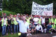 Video: Provokation des RIVA Managements statt Verhandlung - Der Streik geht weiter - lo sciopero continua!