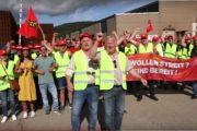 Generalstreik in Italien - Streikende von RIVA aus Trier und Horath solidarisch!