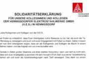 """VK VACUUMSCHMELZE: """"Wir werden Euch bei Eurem Kampf unterstützen"""""""