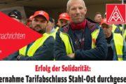 Tarifnachrichten B.E.S. #2: Erfolg der Solidarität - Tarifabschluss Stahl-Ost durchgesetzt