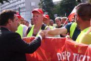 Video: Protest- und Solidaritätskundgebung der Streikenden von RIVA in Berlin. Solidarität auch aus der Bundespolitik!