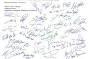Delegierte der IG Metall Herborn unterstützen die Streikenden mit Spende