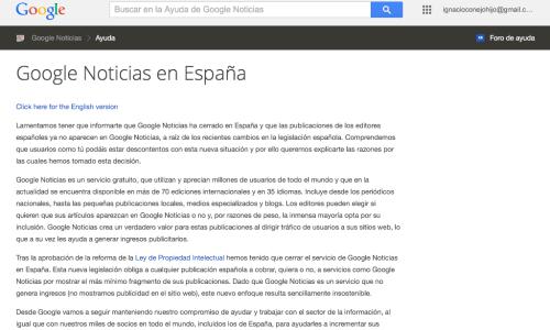 Hablando con El Gallo del Canon AEDE, Google News y chorradas varias