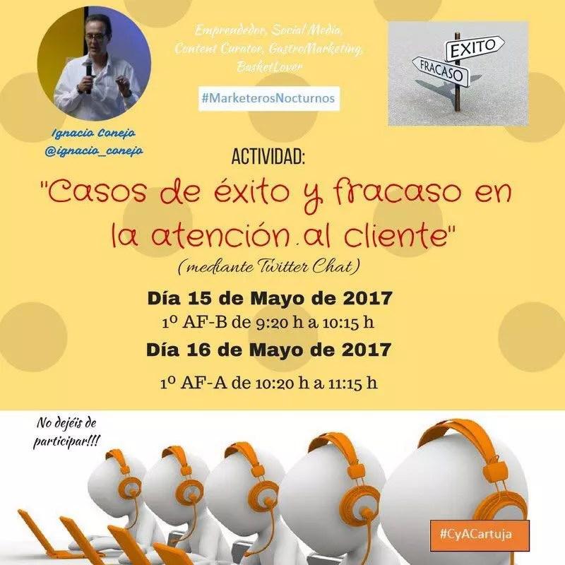 Formación Atención al Cliente en redes sociales FP Granada #CyACartuja