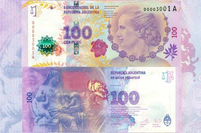 billete 100 pesos eva peron