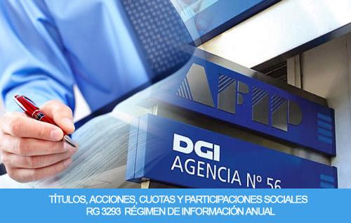 Títulos, acciones, cuotas y participaciones sociales - RG 3293  Régimen de Información Anual