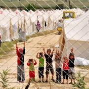 Children in a Syrian Refugee camp