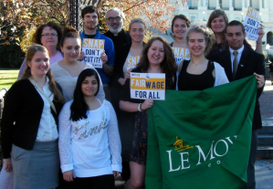 Le Moyne College students at Capitol Hill