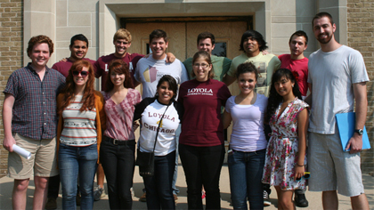 Students at Loyola 4 Chicago