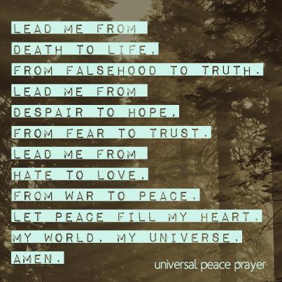 Lent Day 45 - Peace Prayer