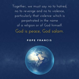 Pope Francis - God is peace