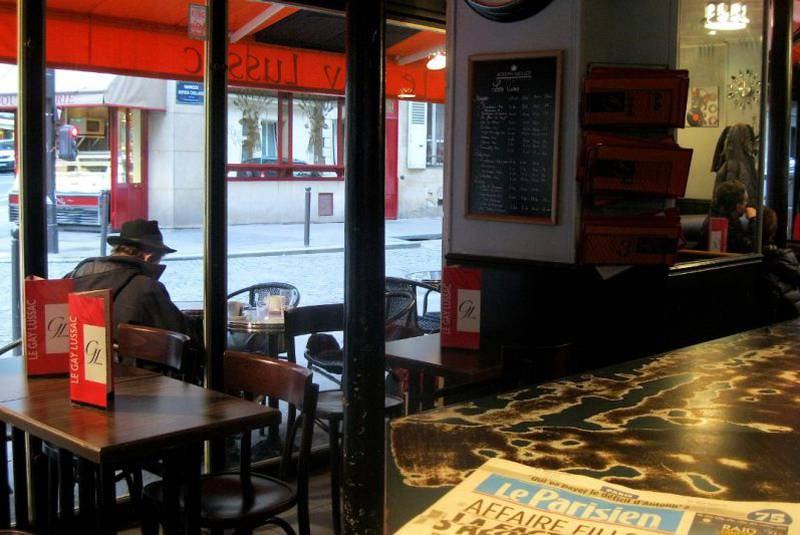 A local cafe in Paris is one of the places Magdalena Randal chooses to procrastinate.
