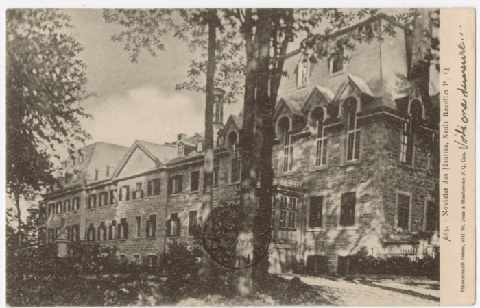 The novitiate building 1852. Source: the author.