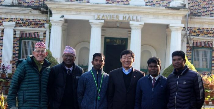 Jesuit Community: Bill Robins, Lawrence Maniyar, Pankaj Kerketta, Samuel Simick, Ashish Ekka, David Ekka