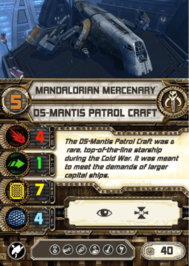 custom d5-mantis patrol craft