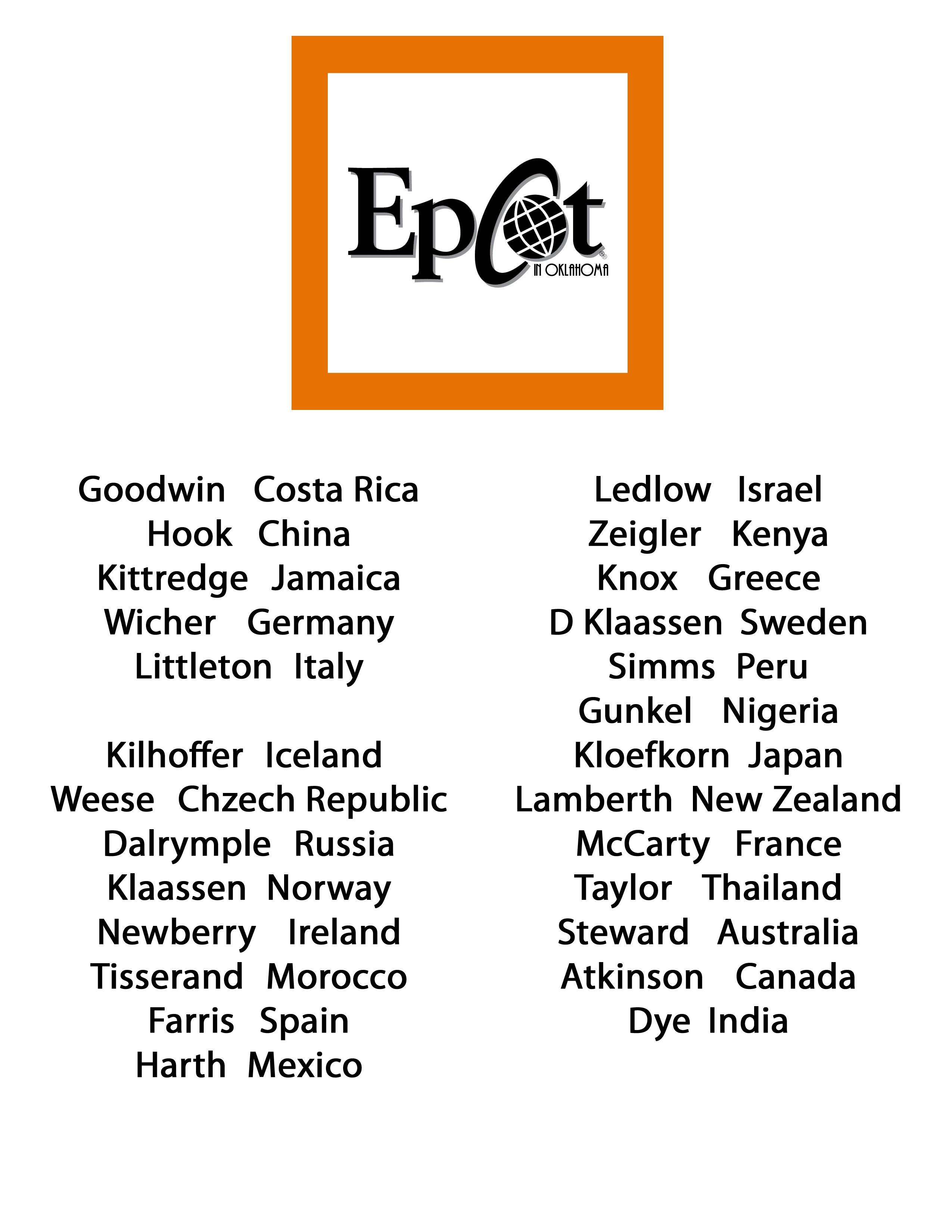 epcot in oklahoma name list