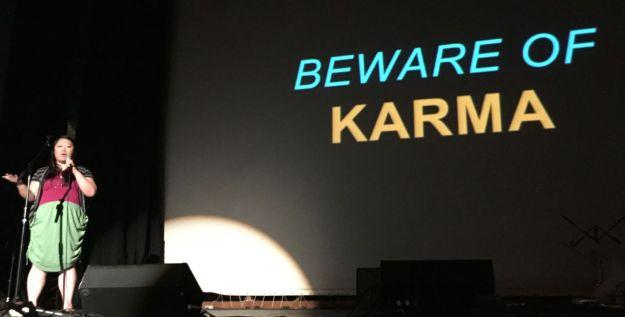 Your karma ran over my hot dogma.