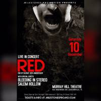 Locals Jax bands'Salem Hollow' and 'Bleeding In Stereo' open for Christian Rockers 'Red'.