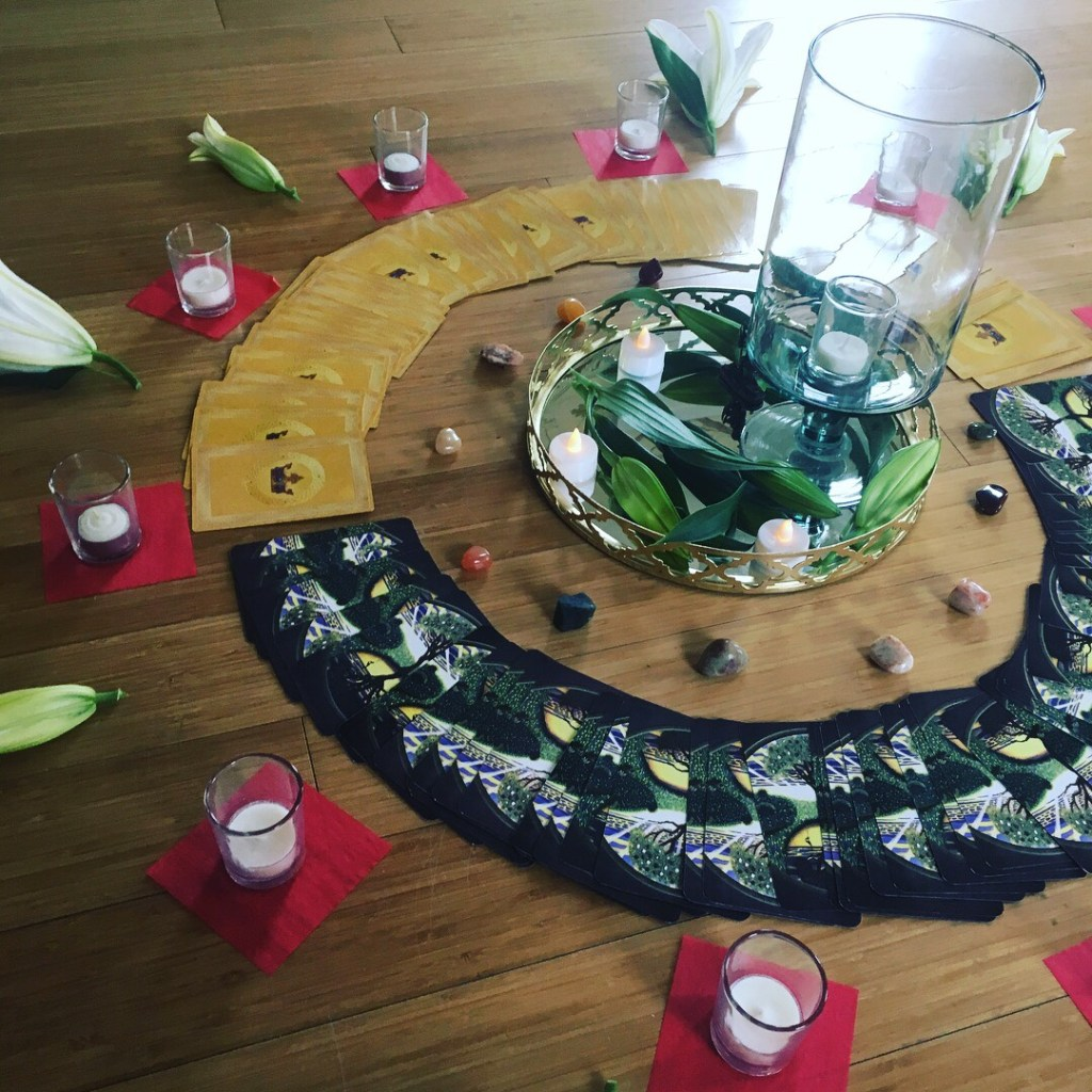 Altar for our Aires new moon 4/15/18