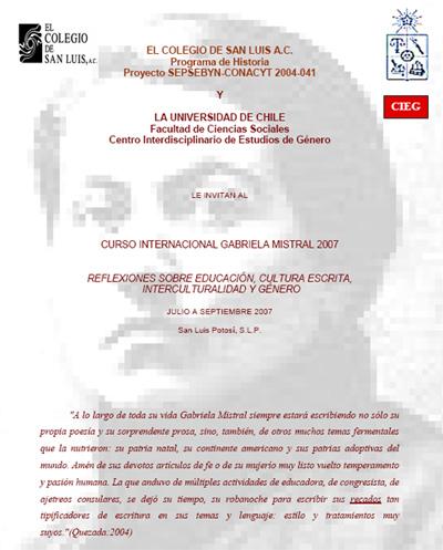 Invitación Gabriela Mistral