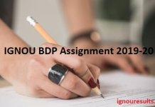IGNOU BDP Assignment