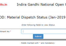 IGNOU Study Material Dispatch Status