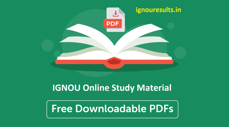 IGNOU Study Material