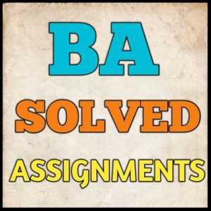 BA Solved Assignment (2020-21)