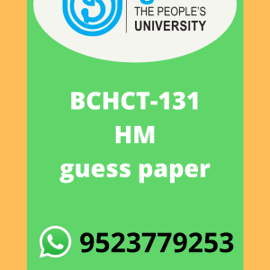 BCHCT-131 ATOMIC STRUCTURE, BONDING, GENERAL ORGANIC CHEMISTRY AND ALIPHATIC HYDROCARBONS guess paper in HINDI