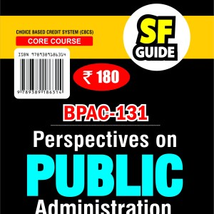 BPAC131 Perspectives On Public Administration (Ignou help book BPAC-131 in English Medium)